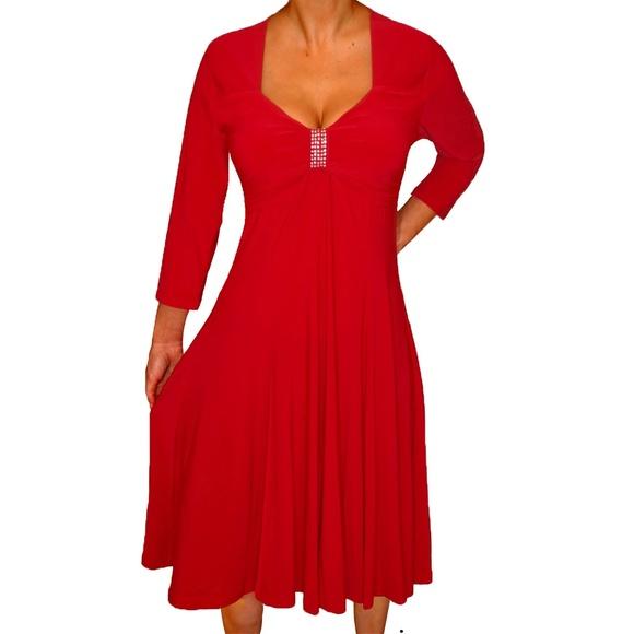 ed96a573e9 Funfash Plus Size Long Sleeves Empire Waist Dress